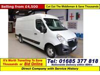 2011 - 11 - VAUXHALL MOVANO 4500 2.2CDTI 125PS L3H2 VAN c/w RIONED JETTER