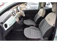 2015 Fiat 500 1.2 Lounge (s/s) 3dr Petrol green Manual