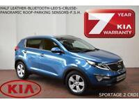 SEPT 2012 Kia Sportage 2 1.7CRDi (2WD)-BLUETOOTH-LED'S-PAN ROOF-HALF LEATHER-FSH