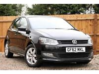 Volkswagen Polo 1.4 85ps DSG Match Automatic Petrol 5 Door Hatchback in Black
