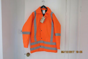 Orange  parka and coverall