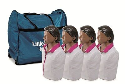 New 4 Pk Cpraed Laerdal Little Anne Manikin Soft Pack Training Mat -dark Skin