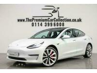2019 Tesla Model 3 MODEL 3 PERFORMANCE AWD HEATED LEATHER Auto Saloon Electric A