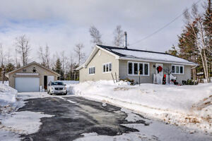 Bungalow With Detached Wired Garage in Fredericton Junction