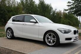2012 BMW 1 Series 2.0 118d SE 5dr AUTO, WHITE, LEATHER, M SPORT ALLOYS, I DRIVE