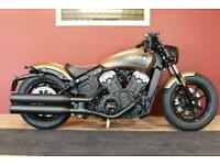 2020 Indian Scout Bobber Deep Brass Smoke Icon Series New In Stock