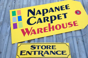 NAPANEE CARPET WAREHOUSE...CLEARANCE OUTLET