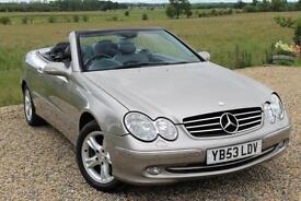 2003/53 Mercedes-Benz CLK200 Kompressor 1.8 auto Avantgarde, 2 Owners & FSH