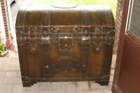 ANTIQUE LEATHER TRUNK- PRICE REDUCED