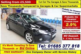 2014 - 14 - FORD FOCUS ZETEC 1.6TDCI 115PS 5 DOOR HATCHBACK (GUIDE PRICE)