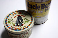 Vintage Uncle Ben's Tin and Mammoth Tin