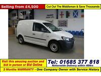 2012 - 62 - VOLKSWAGEN CADDY 1.6TDI 75PS VAN (GUIDE PRICE)