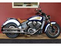 Indian Scout 1200 Blue & White FSH 1 Owner 2193 Miles!