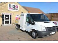 2011 FORD TRANSIT 350 TDCI 100 MWB DROPSIDE WITH EFFER SWING CRANE DRW RWD DROPS