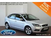 2009 Ford Focus 1.6 (100ps) Zetec-LOW MILES-FULL SERVICE HISTORY-