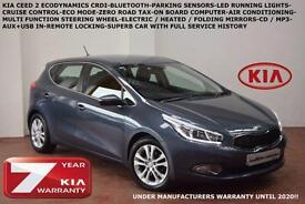 2013 Kia ceed 1.6CRDi (126bhp) 2-BLUETOOTH-PARKING SENSORS-ZERO ROAD TAX-F.S.H.