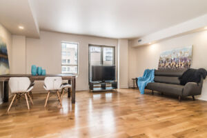 Appartement Condo. Loft 2 1/2. Ville Saint Laurent. Bois Franc.
