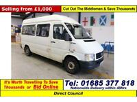 2002 - 02 - VOLKSWAGEN LT35 2.5TDI 11 SEAT DISABLED ACCESS MINIBUS (GUIDE PRICE)