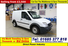 2011 - 11 - FORD TRANSIT CONNECT T200 1.8TDCI 75PS SWB VAN (GUIDE PRICE)