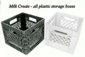 Milk Crate Plastic Boxes, stackable, HDPE 2, made in Canada