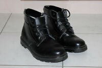 MEN'S LEATHER WORK BOOTS, SAFETY SHOES, STEEL TOE SIZE 10