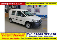 2013 - 13 - VOLKSWAGEN CADDY C20 BLUEMOTION 1.6TDI 75PS 5 SEAT CREW VAN