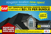 Shingles starting from $21.75 a bundle @ Herman's!