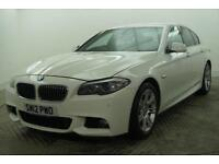 2012 BMW 5 Series 520D M SPORT Diesel white Automatic