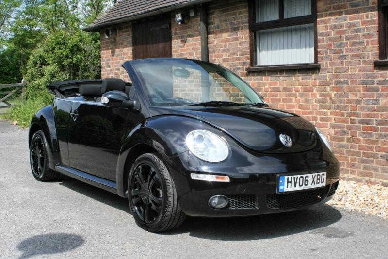 2006 Volkswagen Beetle 1 6 Lunar Convertible Black 54000 Miles Service History