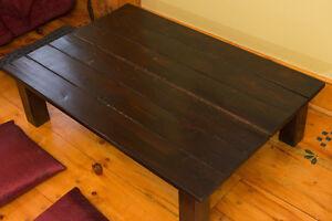 Japanese low tea table Dark wood cedar wooden coffee tables