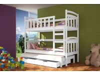SPECIAL OFFER! BUNK BED damian with Mattresses Storage Container 3 colours
