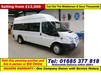 2013 - 63 - FORD TRANSIT T430 2.2TDCI 135PS RWD 17 SEAT MINIBUS (GUIDE PRICE)