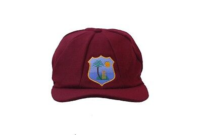 CLASSICAL MELTON WOOL CRICKET CAP WEST INDIES LOGO MENS 58-61CM ELASTICATED BACK
