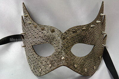 Sexy Leather Spike Masquerade Ball Mask fifty shades of grey themed party - Fifties Party Theme