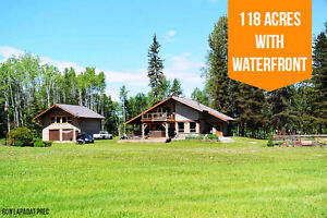 118 Acre Private Paradise | Waterfront property in Smithers!