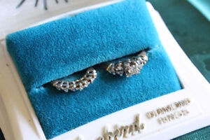 VINTAGE BLUEBIRD DIAMOND WEDDING RINGS