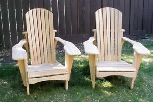 Handcrafted **LONG LASTING CEDAR** Adirondack Chairs