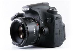 Used Canon EOS 60 D - w/ Canon 50mm F1.8 and Camera Bag!