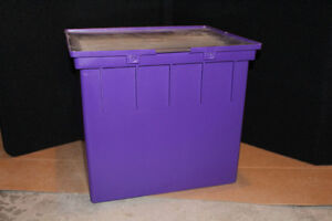 "12"" x 12"" Paper Storage Tote with Hinged Lid Cambridge Kitchener Area image 1"