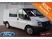 2010 Ford Transit 85 T280 SWB CREW CAB-1 OWNER-FULL SERVICE HISTORY-NO VAT-