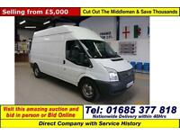 2012 - 12 - FORD TRANSIT T350 2.2TDCI 100PS RWD LWB HI TOP VAN (GUIDE PRICE)