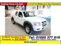 2007 - 57 - FORD RANGER 2.5TDCI 4X4 DOUBLE CAB PICK UP (GUIDE PRICE)