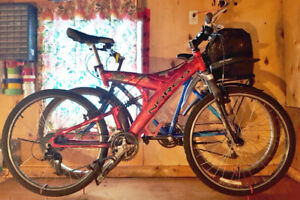 2 mountain bikes bicycles for sale: