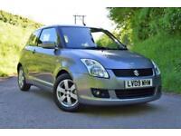 2009 Suzuki Swift 1.5 GLX Grey 3 Door, 63k miles FSH £90 per month