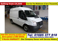 2011 - FORD TRANSIT T280 2.2TDCI 85PS FWD SWB MEDIUM HIGH TOP VAN (GUIDE PRICE)