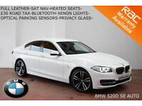 2013 BMW 520 2.0TD (184bhp) Auto d SE-XENONS-HEATED SEATS-NAV-LEATHER-£30 TAX-