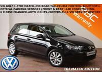 2012 Volkswagen Golf 1.6TDI (105ps) Match-BLUETOOTH-CRUISE-PARK SENSORS-£30 TAX-