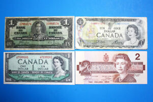 Four Old Canadian Banknotes #2