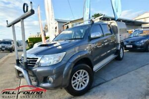 2013 Toyota Hilux KUN26R MY12 SR5 (4x4) Grey 4 Speed Automatic Dual Cab Pick-up Tweed Heads Tweed Heads Area Preview