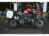 TRIUMPH TIGER EXPLORER 1200, 2014 SPOKE WHEELS AND PANNIERS